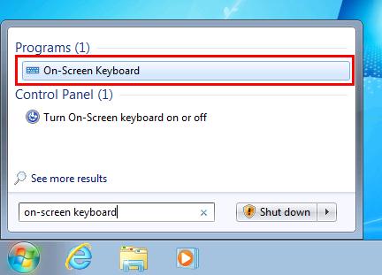 Open On-Screen Keyboard